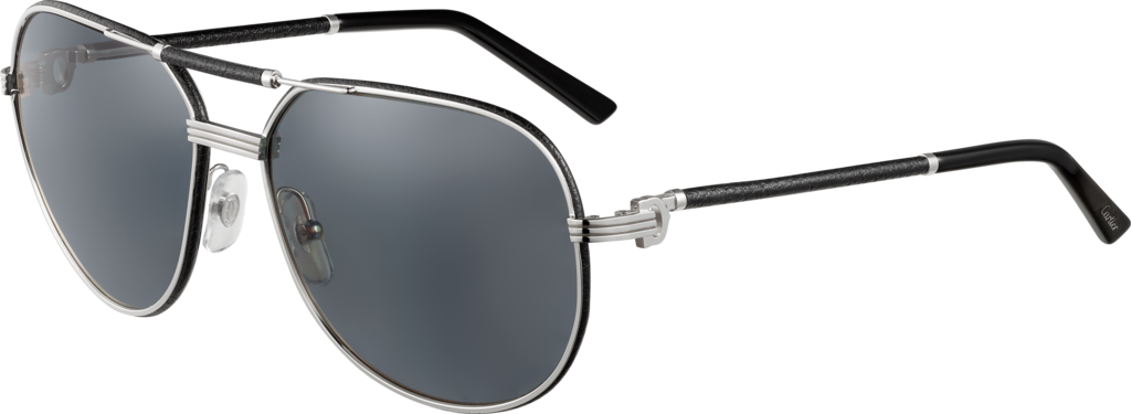 e328ad6aff2 CRESW00061 - Première de Cartier sunglasses - Black leather ...