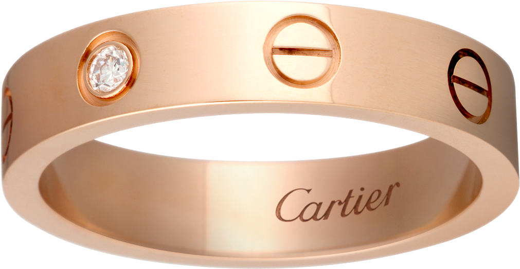 Crb4050700 love wedding band 1 diamond pink gold diamond cartier love wedding band 1 diamondpink gold junglespirit Image collections